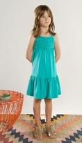 Anthem of the Ants Aqua Crochet tank Summer Dress  4  8