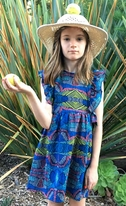 Anthem of the Ants Navy Combo Vibrant  Mia Sun Dress 6 last 1