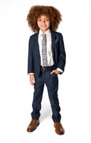 Appaman Blue & Black Nailhead Elegant 2pc Little Boy's Suit 6 14