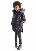 Appaman Girls Hooded Winter Puffer Coat Purple  14 Last 1