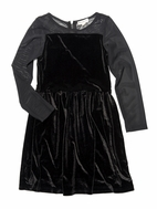 Appaman Black Rainbow Sparkle L/Sleeve Josie Girls Dress