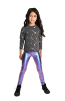 Appaman Girls Sniny Ombre Purple Leggings 10 12