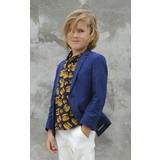 7b8bbcf57 Appaman Navy Blue Boy's Herringbone Linnen Blazer/Jacket 6 7