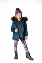 Appaman Permafrost Winter Girls Hooded Coat Dyed Fur 4T Last 1