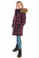 Appaman Cranberry Long Winter Girls Down Coat 12 Only 1 left