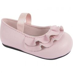 Baby Deer Pink Ruffle Vamp Girls Mary Jane Shoes 5 7 Toddler