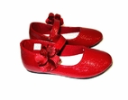 Baby Deer Red Patent Flower Mary janes Shoes 2 Infant last 1