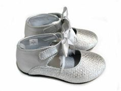 Baby Deer Silver T-Strap Mary Janes Shoes Girls 8 9 10