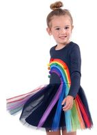 Baby Sara Long Sleeves Rainbow Tutu Dress  5 Last 1