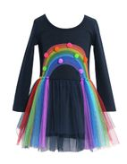 Baby Sara Long Sleeves Rainbow Tutu Dress  4 6X