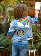 Baby Sara Patches on Parade Toddler/ Girls Denim Jacket 2T 4 6