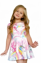 Baby Sara Sparkly Unicorn Castle Dress 12m 18m 2T 3T