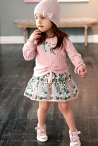 Baby Sara Toddler/Little Girls  Long Sleeves Embroidered Tutu Dress