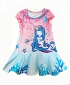 Baby Sara Super Cute Ruffle Mermaid Girls Dress