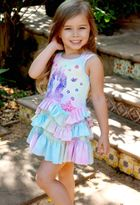 Baby Sara Unicorn Ruffles Pastel Girl's Dress *Top Seller*