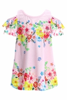 Baby Sara Very Sweet Floral Cold Shoulder Toddler Girls Easter Dress