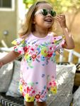 Baby Sara Sweet Floral Cold Shoulder Toddler Girls Dress 2T 3T