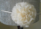 Bari Lynn Beautiful Ivory Headband w/Tulle Netting Flower w/Crystals