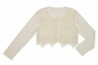 "Biscotti ""Fairy Tale Romance"" Ivory Crochet Shrug Easter 5"