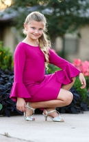 Biscotti Pretty in Pink Chic Sleeve Tween Girls Dress 7 12