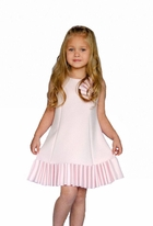 "Biscotti ""Runway Status"" Pink Pleated Hem Girls Scuba Dress"