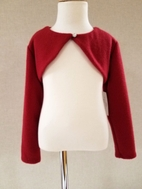 Biscotti  Soft Red Long Sleeves Girls Shrug 6 6x 7 12