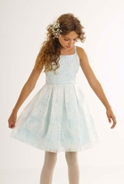 "Biscotti ""Tea Party""  Aqua Tween Easter Party Dress   7"