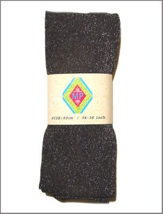 MP Black & Silver Cotton & Lurex Sparkle Tights  Denmark  *Top Seller*