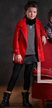 Blu by Blu Geranium Red Stylish Suede Girls Coat 10 last 1