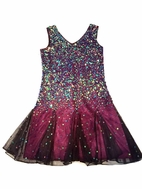Blush by Us Angels Sequined Tween Purple Gatsby Dress 10 Last 1