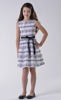 Blush by Us Angels  White & Black Emr. Tween  Dress  7 10
