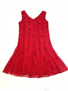 Blush by Us Angels Red Sequins Sparkly Tween Gatsby Dress 7