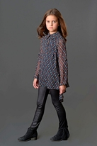 Bly by Blu 2pc Chiffon Blouse Tween Girls 8 Last 1