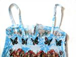 Butterfly Studio Blue Sublimated Butterfly print Long Sun Dress