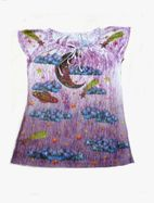 Butterfly Studio Sublimated Soft Girls Top w/Moon & Bunny