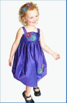 "C'Est Chouette Couture ""Silk du Soleil"" Infant Girls  Dress 12m"