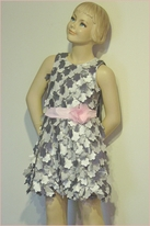 Cach Cach Stunning Silver & Pink Petal Flowers party Dress sz 2t Last 1