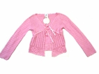 Charabia Gorgeous Pink Crochet Cardigan/Shrug France 18m 8 10