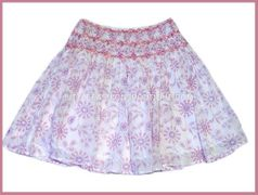 Charabia Printed Smocked Embroidered Skirt w/Sequins 18m 2 3 4