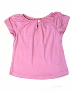 Charabia Pink  Cotton Knit Girls  Top 18m 2 4 6