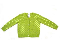 Charabia Green/Ivory Polka Dot Cardigan/Sweater sz 2y