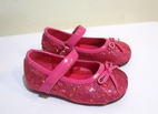 China Doll Bubble Gum Pink Sparkly Sequined MJ Girls Shoes 4 5 Infant