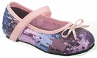 China Doll Sparkly Purple & lavender Sequined Girls MJ Shoes 6 8 Toddler