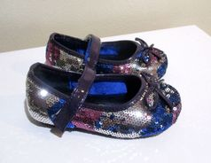 """China Doll """"Toula"""" Sparkly Purple Silver & Blue Girls Shoes 5Inf 6tdlr 1Yth"""