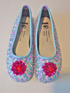 Coastal Projections Irredescent Multi Sequined Ballerina Shoes 3 4 6 12