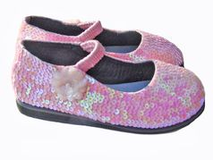 Coastal Projections Custom Light Pink Shoes w/Side Flower sz 1inf 3inf 6 tdlr