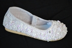 Coastal Projections Custom White Beaded Girls Communion Shoes 0inf 5 12 13 1yth 4yth