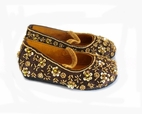 Coastal Projections Exquisite Gold & Brown Sparkly Beaded  Shoes *Top Seller*