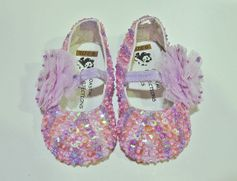 Coastal Projections Lavender Sequin Infant Girls Shoes 0 2