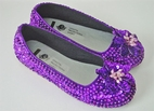 Coastal Projections Purple Custom Sparkly Sequined Shoes